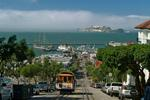 Foto, Bild: Cable Car, Fishermans Wharf und Alcatraz