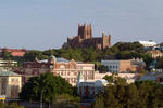 Foto, Bild: City von Newcastle mit Christ Church Cathedral