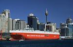 Autotransporter vor der City von Sydney