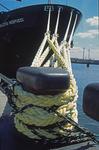 Schiffstaue vom Containerschiff P&O NEDLLOYD VESPUCCI zum Kai am HHLA Container Terminal Burchardkai Hafen Hamburg