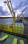Mehrzweckfrachter (Multipurpose-Frachter, multi-purpose-ship) in Brisbane mit Plätzen für Passagiere