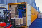 Container wird gepackt