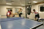 Training im Fitnessraum, Gymnastic Room