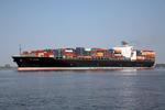 Containerschiff NYK PEGASUS auf der Elbe