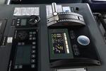 Maschinentelegraf und auf der Kommandobrücke