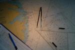 Seekarte und Zirkel