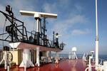 Signalmast und Radar auf dem Peildeck (Monkey Island)