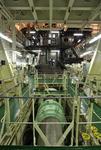 Antriebswelle (drive shaft, propeller shaft) mit Anschluss zur Hauptmaschine (MAN 12K98 ME 7)
