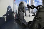 Ankerwinsch und Ankerkette mit Schatten auf dem Containerschiff