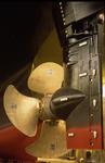 Schiffsschraube (Propeller) und Ruder mit Costa-Birne (Costabirne)