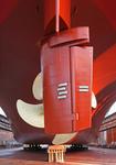Klappenruder (flap rudder), Becker-Ruder vor Schiffsschraube