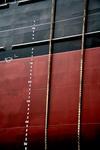 Bordwand mit Tiefgangsmarken, Freibordmarke, Ahming (Skala) und Tauen