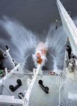 Rettungsboot (Freifall-Rettungsboot) wird getestet