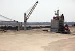 Schiffe im El Ballah Bypass (Al Ballah By-Pass) zum Suezkanal, Sueskanal (Suez Canal)