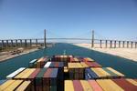 Die El Qantara-Brücke (Al Qantarah-Bridge) über den Suezkanal wurde früher Mubarak-Friedensbrücke genannt