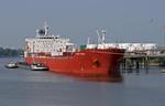 Tanker PORT UNION  an der Löschbücke vom VOPAK Terminal Hamburg