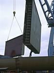Segmente der Bordwand eines Tankers mit Doppelhülle werden auf der Damen Shipyards Galati eingebaut